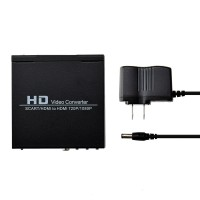 Scart Hdmi to Hdmi Video Converter Box 1080p Scaler 3.5mm Co