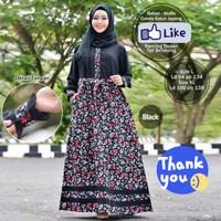 Gamis Halimah Wolfis mix Katun Jepang | Gamis | Baju Muslimah | Dress