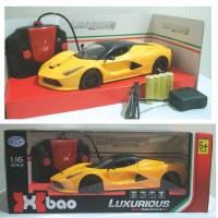 Mobil remote control Laferrari Kuning buka pintu Luxurious 1:16
