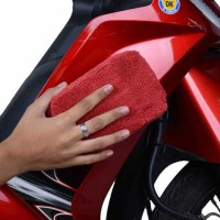 Harga sponge otomotif serbaguna microfiber 10x14 merah sa | WIKIPRICE INDONESIA