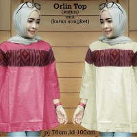 53353 Orlin Top/baju Tunik Murah/atasan Muslim Wanita Murah