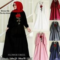 Fashion Hijab Modern  Flower Dress  Modis Terbaru Murah