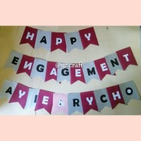 Banner Happy Engagement/Bunting Flag