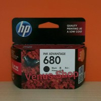 HP TINTA 680 BLACK / HP INK ADVANTAGE 680 HITAM ORIGINAL