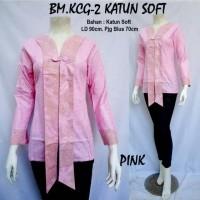 Jual Blous Batik Wanita lengan panjang - Soft Pastel Series Murah