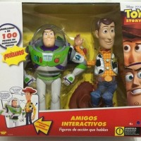 MAINAN TOY STORY TALKING WOODY BUZZ LIGHTYEAR DISNEY PIXAR THINKWAY