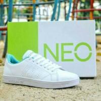 Jual Sepatu Sneaker Adidas Neo Advantage Full Putih White Women Wanita Cewe Murah