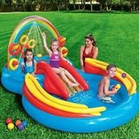 Kolam Renang Anak Mandi Bola Rainbow Ring Play Center 57453 Perosotan