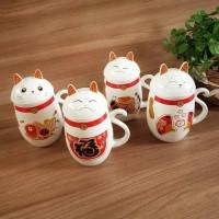 harga Gelas | Mug | Cangkir | Gelas Hoki Mug Kucing Maneki Neko Fortune Cat Tokopedia.com
