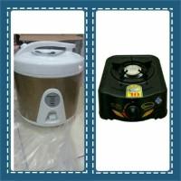 rice cooker national super 1ltr + kompor gas QUANTUM