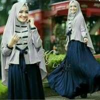 kyara gamis modern hijab simple busana muslim syari bahan wolfis murah