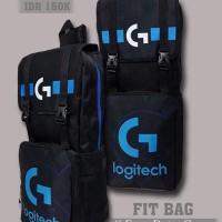 Tas Gaming Bag FIT BAG LOGITECH Tas Backpack Sekolah Dota 2 CS:GO Blue
