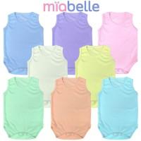 Jumper tangan kutung polos Miabelle baby Bodysuit sleeveless 0-6 bulan