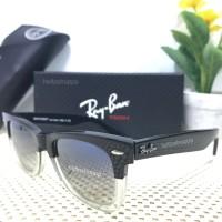 Kacamata Ray Ban Wayfarer Two Tone Glossy black white / sunglasses