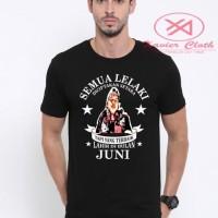 Premium Tshirt Cowo - Lelaki Setara tapi terbaik Juni custome gambar