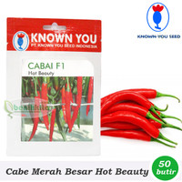 Kebun Benih/Bibit Cabe Merah Besar Hot Beauty F1 (Known You Seed)