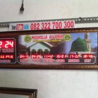 Jual jam jadwal waktu sholat masjid, alarm, timer jeda iqomah otomat update Murah