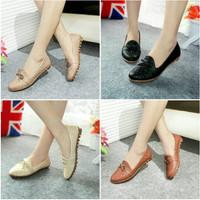 Harga sepatu wanita flatshoes kulit ular sintetis ml04 best | Pembandingharga.com