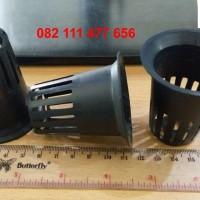 Pot kecil netpot hidroponik warna hitam diameter 5.5 cm minim 100 pc