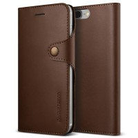 Verus Iphone 7 Plus Case Native Diary - Coffee Brown