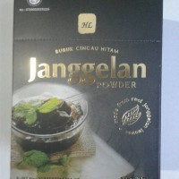 Grass Jelly Powder JANGGELAN Tepung Agar Agar Hitam Makanan Kesehatan