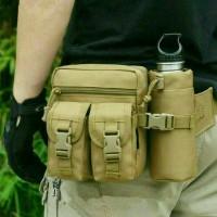 Jual tas slempang selempang pria army waistbag slingbag wanita import impor Murah