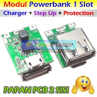 Modul Powerbank 1 Slot Multi Charger + Step Up + Protection 5v 1A Cas