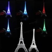 Jual Miniatur Menara Eiffel 25cm dengan Lampu LED Pajangan Hiasan Unik Murah