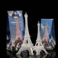 Jual Miniatur Menara Eiffel 18cm dengan Lampu LED Pajangan Hiasan Unik  Murah