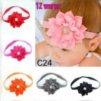 pita bando zirkon bunga bayi anak perempuan headband