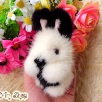 Jual Gantungan Kelinci Kopenhagen / Mink Fur Rabbit / Minkfur / Black Bunny Murah