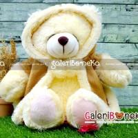 Boneka Teddy Bear Mantel Coklat Ukuran M ( BT - 411340 )