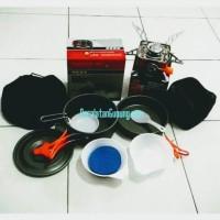 Jual Paket Hemat Kompor Portable dan nesting cooking set 2 person Murah