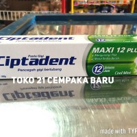 Ciptadent Cool Mint 190 gr   Pasta Gigi Ciptaden Berlubang 190g Murah
