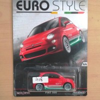 HOT WHEELS FIAT 500 RED CAR CULTURE EURO STYLE 2016 #5/5