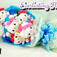 Jual Bucket Hello Kitty (A011) Buket Bunga Boneka Bouquet Wisuda Wedding Murah