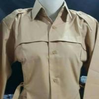 Jual Baju pramuka wanita lengan panjang/seragam sekolah/size 14 Murah