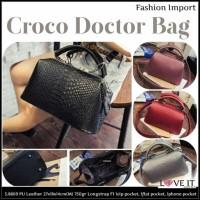 Harga 5 8809 medium croco doctor bag tas fashion import galeri intan | Pembandingharga.com