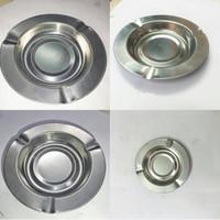 Asbak Rokok Stainless Steel - Bulat 12 Cm