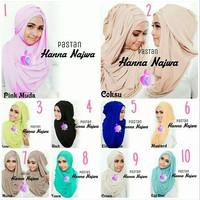 Hijab Pastan Hanna Najwa Murah / Kerudung Syari / Jilbab Cantik Modern