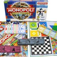 Jual Mainan Monopoli 5 In 1 Play Monopoli catur halma Ludo Ular Tangga Murah