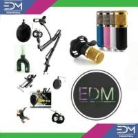 Jual Paket Microphone Condenser BM800 + Stand Mic + Popfilter + Splitter Murah