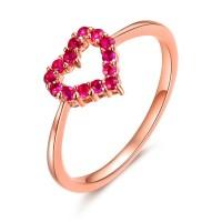 harga Tiaria 18k Rose Gold Ruby Ring Aksesoris Cincin Emas Tokopedia.com