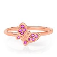 harga Tiaria 18k Rose Gold Ruby Butterly Ring Aksesoris Cincin Emas Tokopedia.com