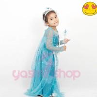 Dress ultah anak Elsa Frozen PREMIUM