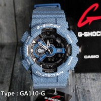 BARANG TERLARIS !!! G Shock Jeans Denim Blue Navy Dongker Casio GA110