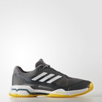 Sepatu Tenis Adidas Barricade Club - Grey/yellow Original