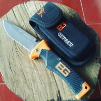 Jual Survival Folding Knife - Pisau Lipat Gerber Bear Grylls - Pisau Import Murah