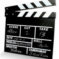 Jual Clapper Board Slate TV MOVIE FILM Black and White terbaik Murah