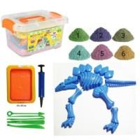 Jual Termurah!!! Pasir Ajaib Pasir Kinetik Paket Dinosaurus Kinetic Sand Murah